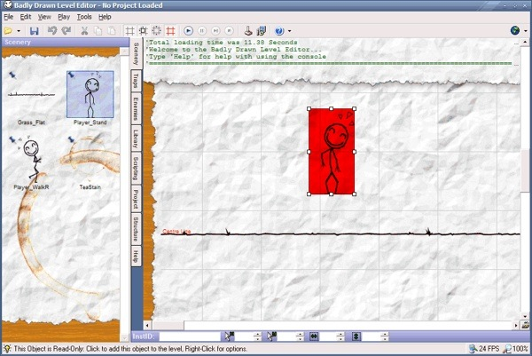 Screenshot of the Badly Drawn Level Editor